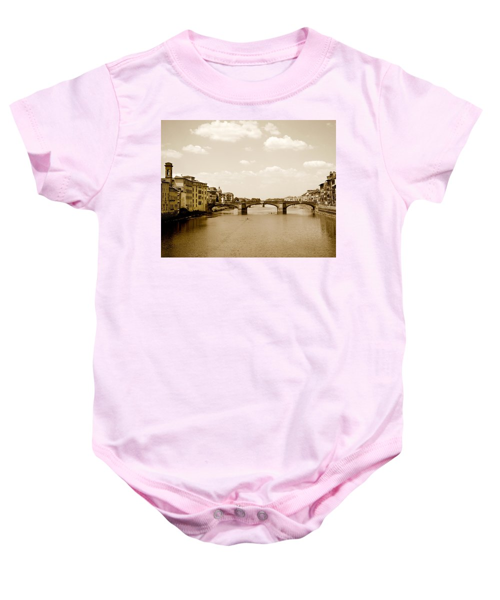 Italy Baby Onesie featuring the photograph Arno River Florence by Marilyn Hunt
