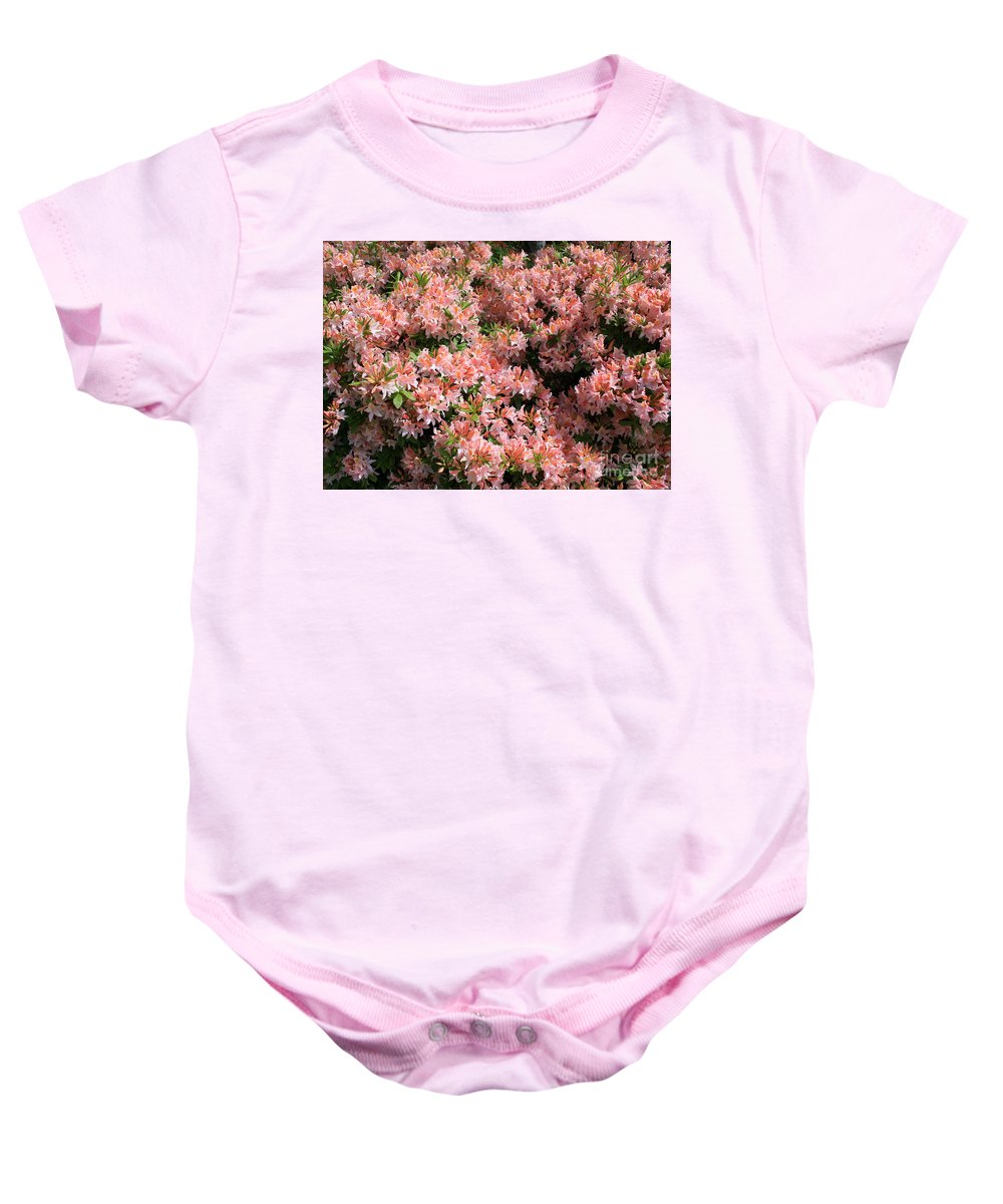 Azaleas Baby Onesie featuring the photograph Azalea Wall by Carol Groenen