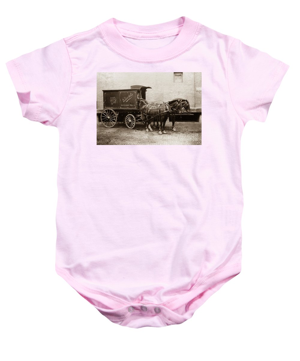 Beer Baby Onesie featuring the photograph Bartel's Brewery Edwardsville Pennsylvania... by Arthur Miller