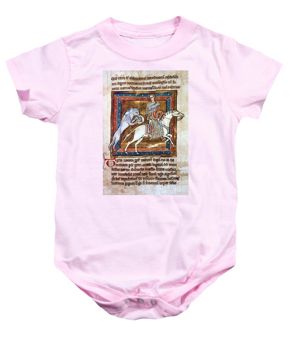 12th Century Baby Onesie featuring the photograph Bestiary: The Tiger by Granger