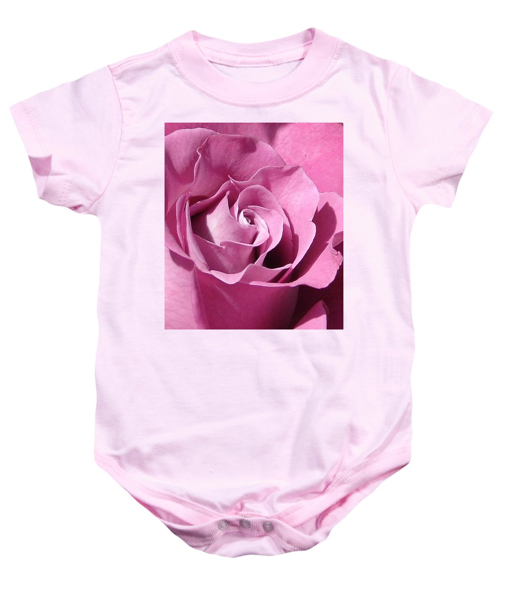 Rose Pink Baby Onesie featuring the photograph Big Pink by Luciana Seymour