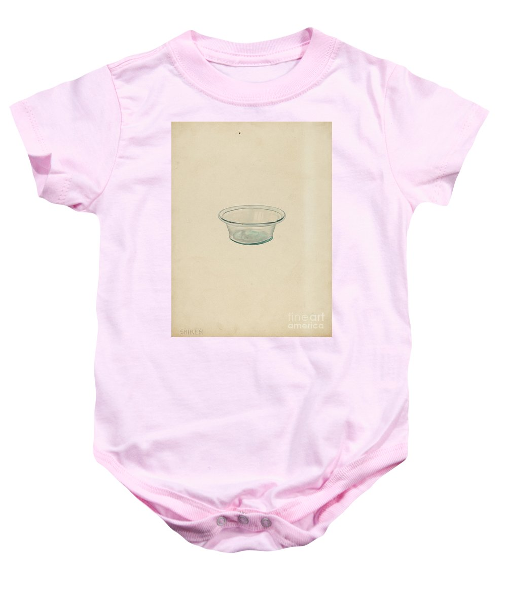 Baby Onesie featuring the drawing Blown Glass by Alvin Shiren