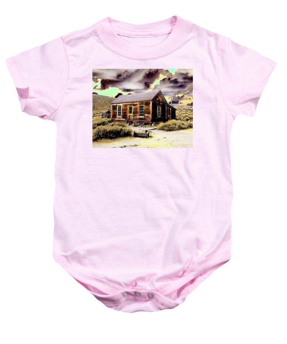 Bodie Baby Onesie featuring the photograph Bodie House by Jim And Emily Bush