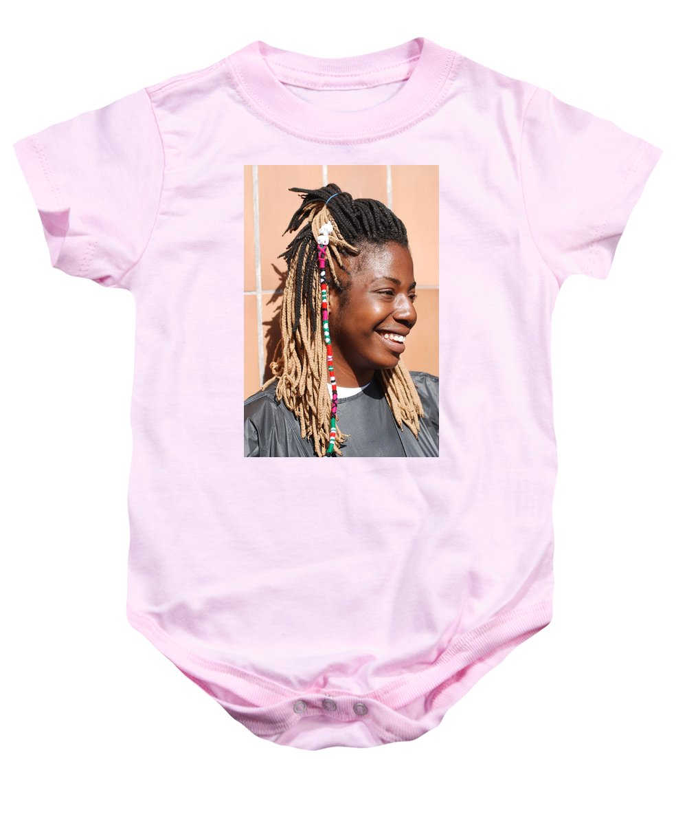 People Baby Onesie featuring the photograph Braided Lady by Rob Hans