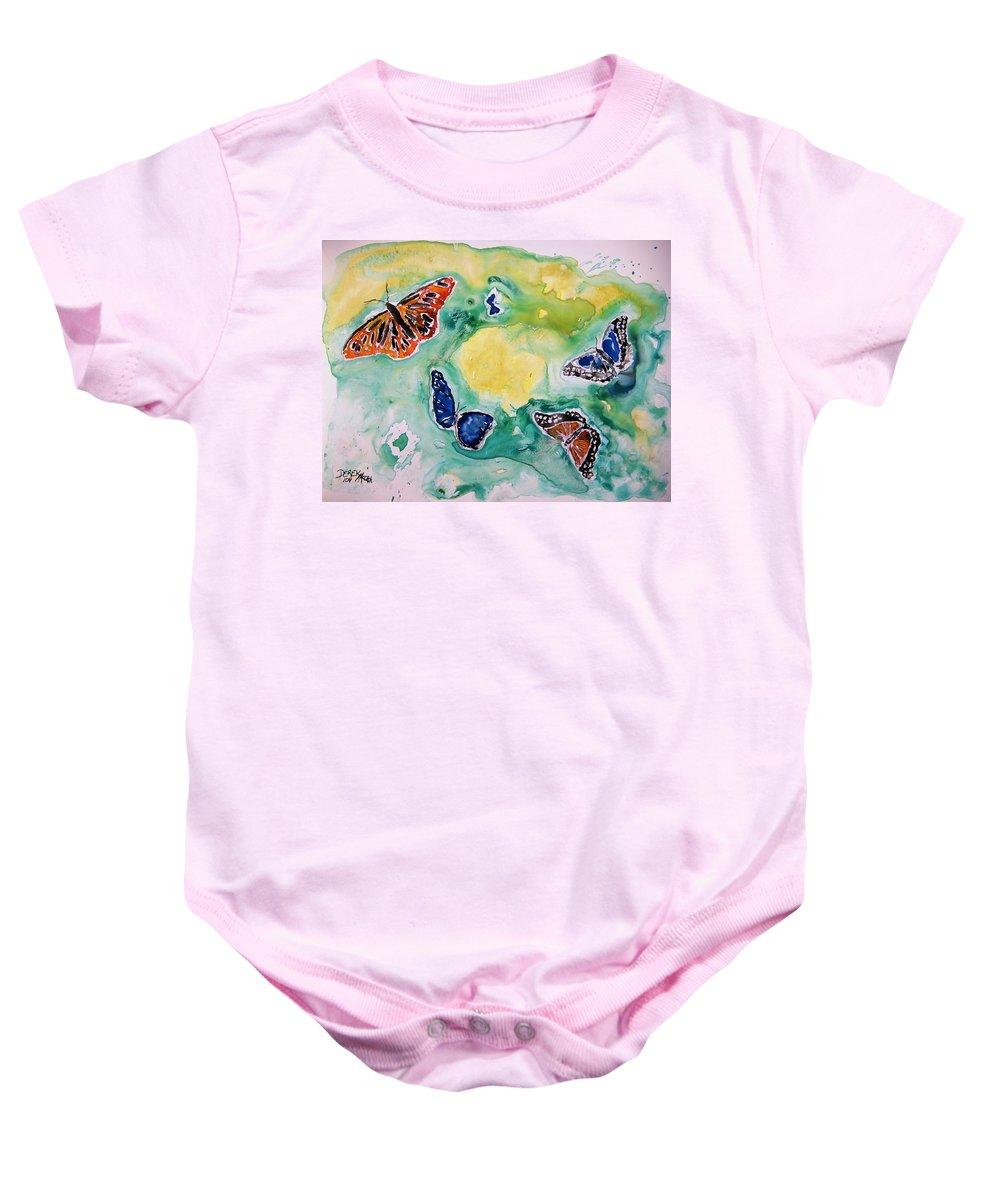 Watercolour Baby Onesie featuring the painting Butterflies by Derek Mccrea
