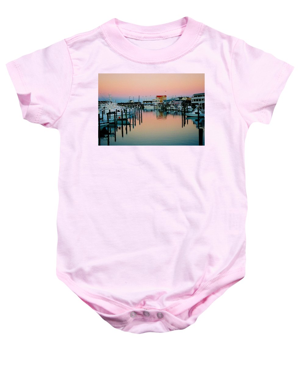 Cape May Baby Onesie featuring the photograph Cape May After Glow by Steve Karol