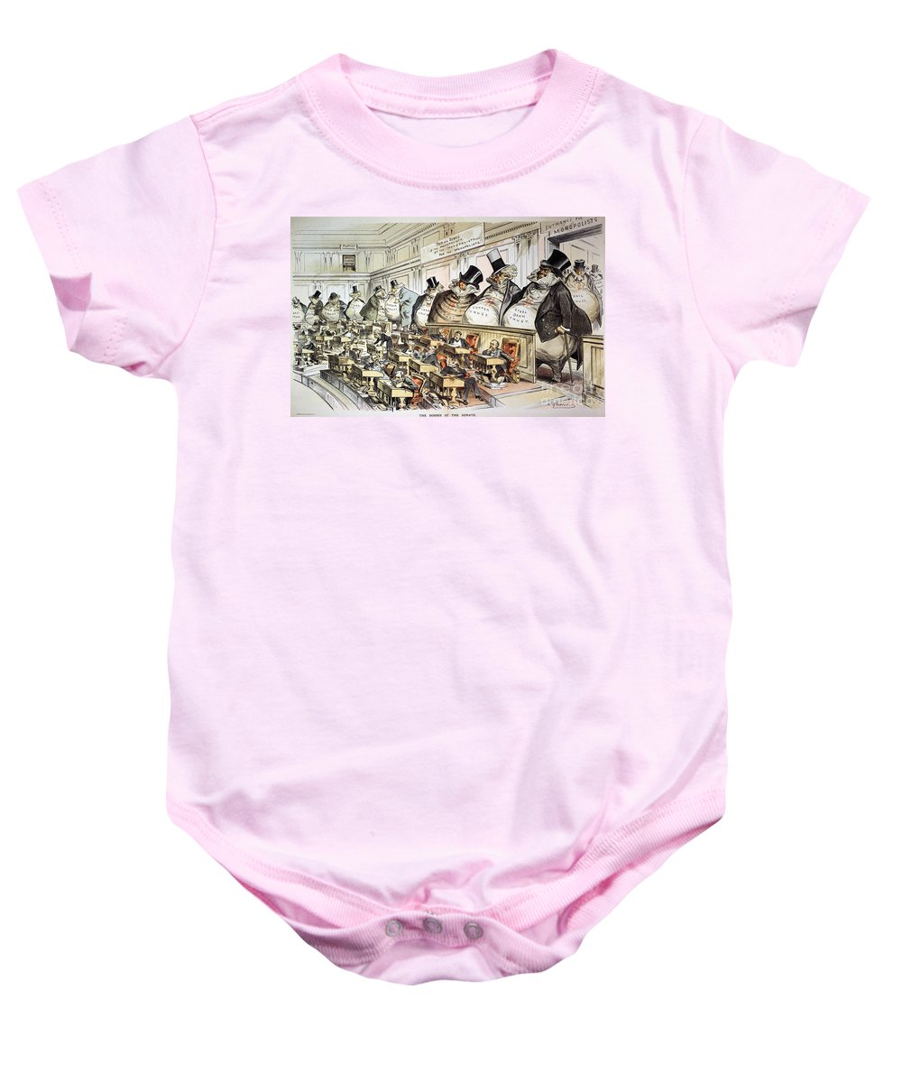 1889 Baby Onesie featuring the photograph Cartoon: Anti-trust, 1889 by Granger