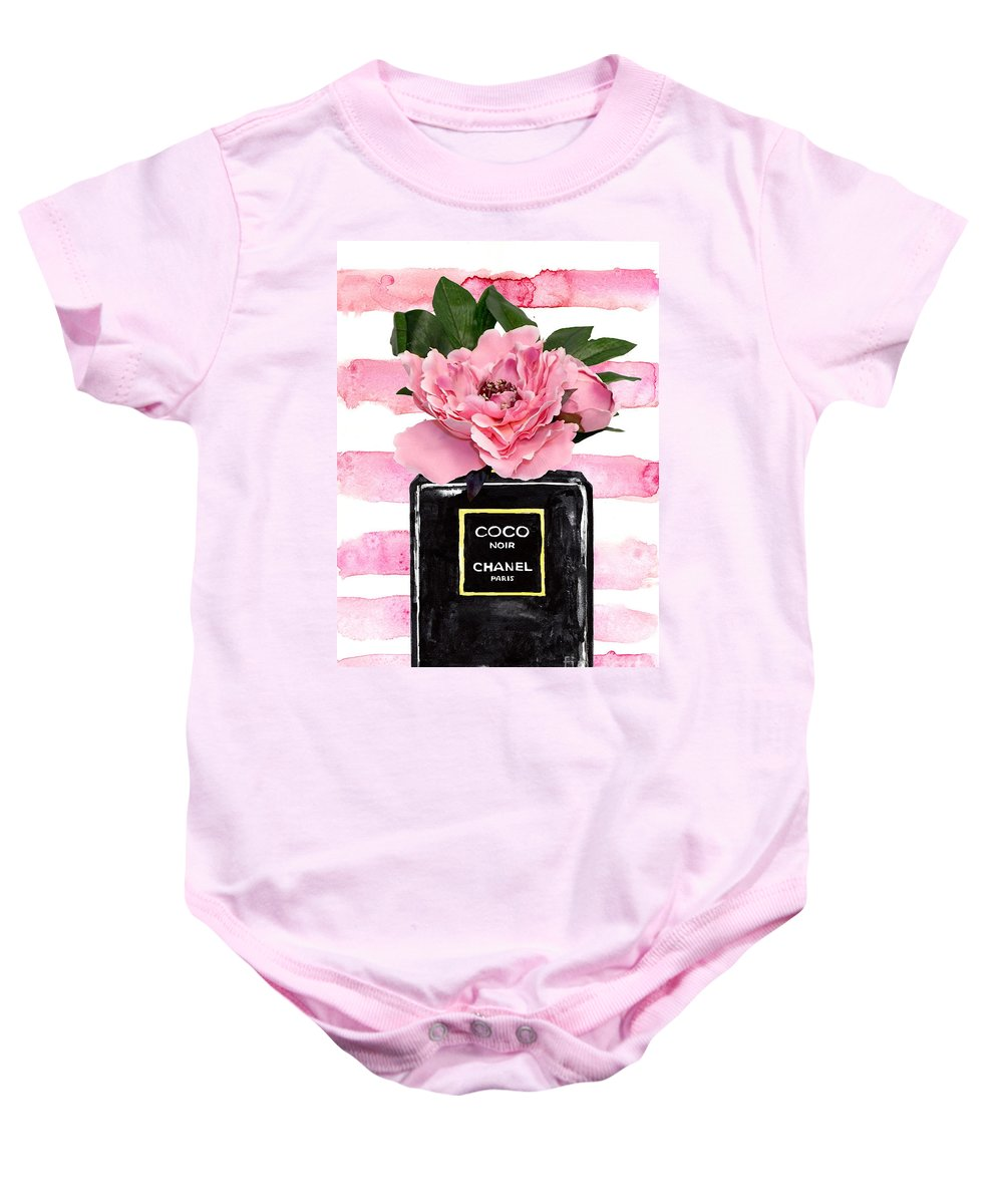 7bce1aff2 Chanel Noir Perfume With Pink Peony Onesie for Sale by Green Palace
