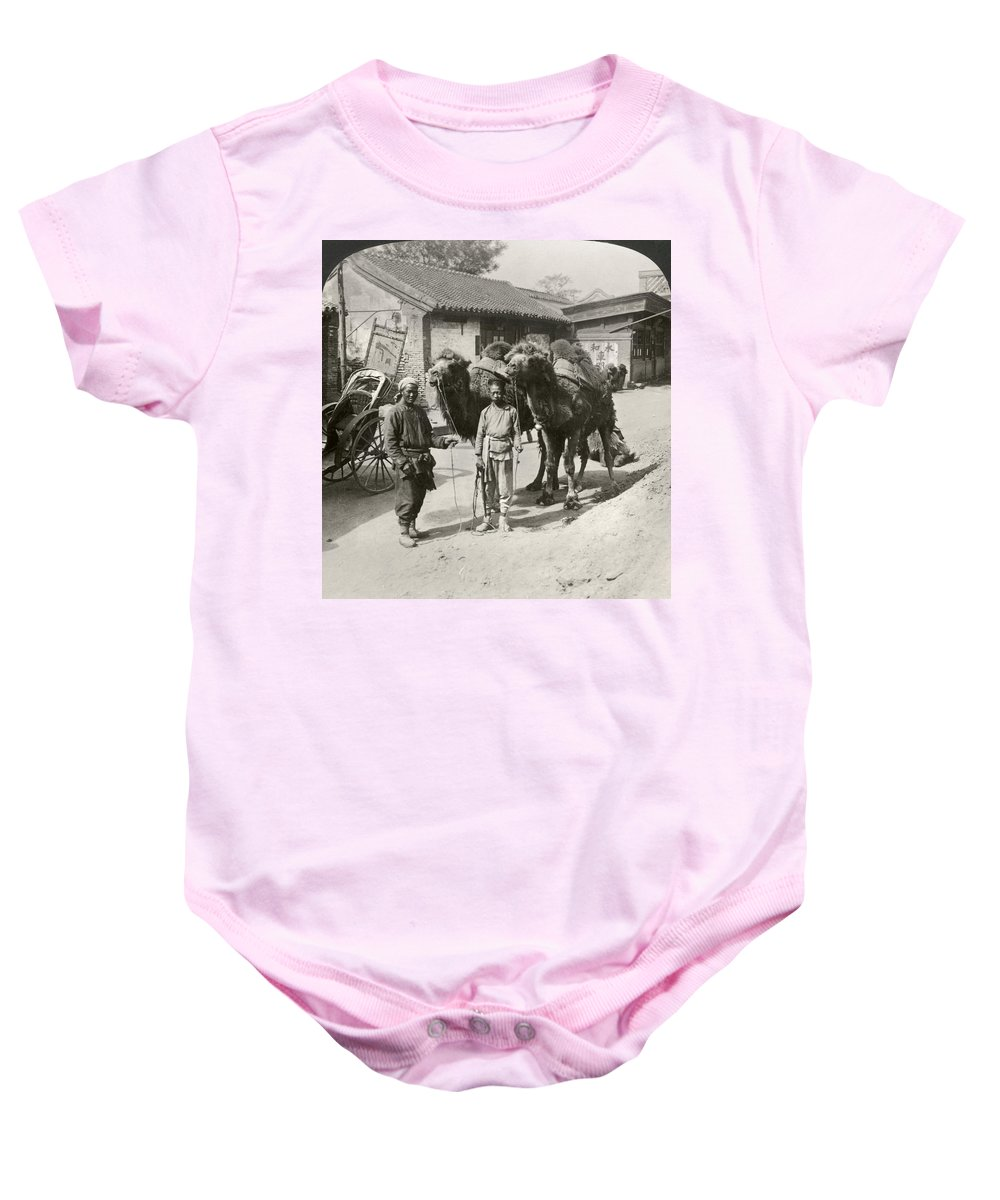 1901 Baby Onesie featuring the photograph China: Peking, 1901 by Granger