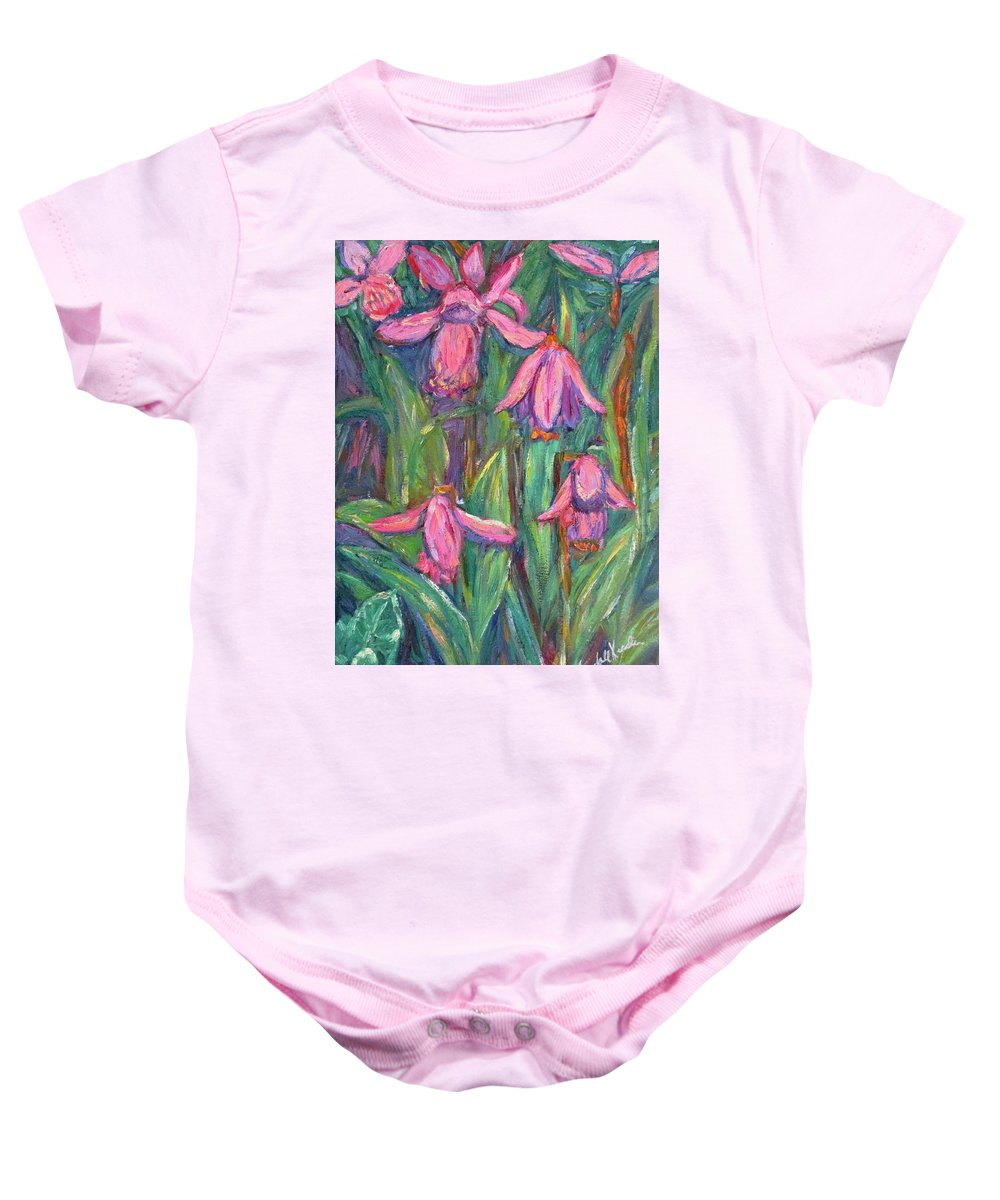 Floral Baby Onesie featuring the painting Chinese Orchids by Kendall Kessler