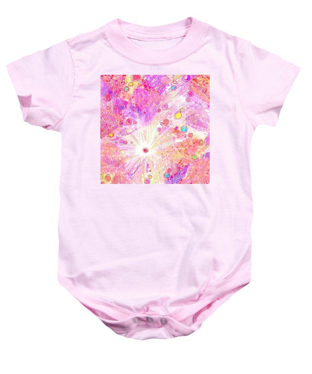Abstract Baby Onesie featuring the digital art Chosen by Rachel Christine Nowicki