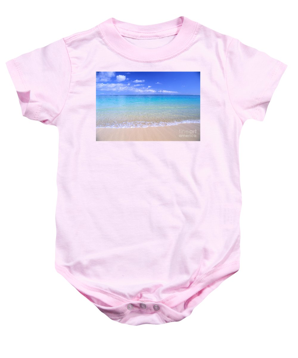 Amaze Baby Onesie featuring the photograph Clear Shoreline by Bill Brennan - Printscapes