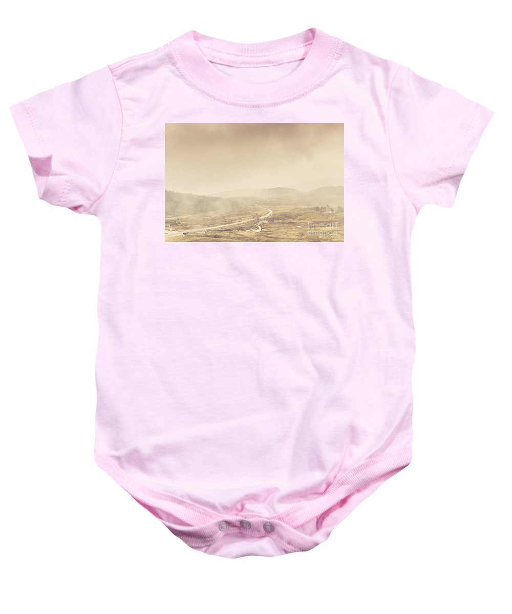 Winter Baby Onesie featuring the photograph Cold Winter Landscape On Cradle Mountain Tasmania by Jorgo Photography - Wall Art Gallery