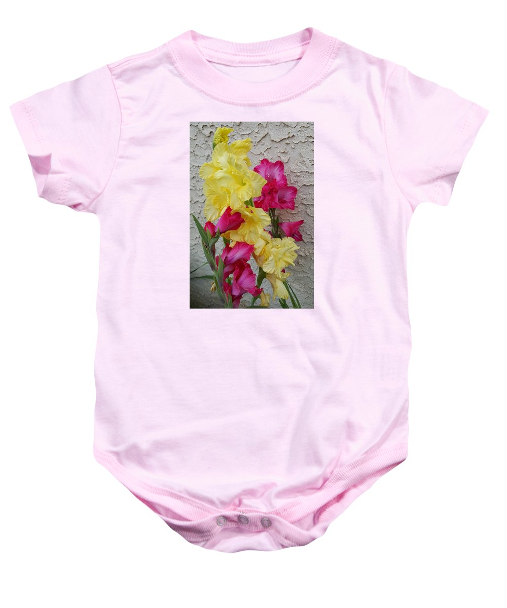 Colorful Baby Onesie featuring the photograph Colorful Glads by Tammy Finnegan