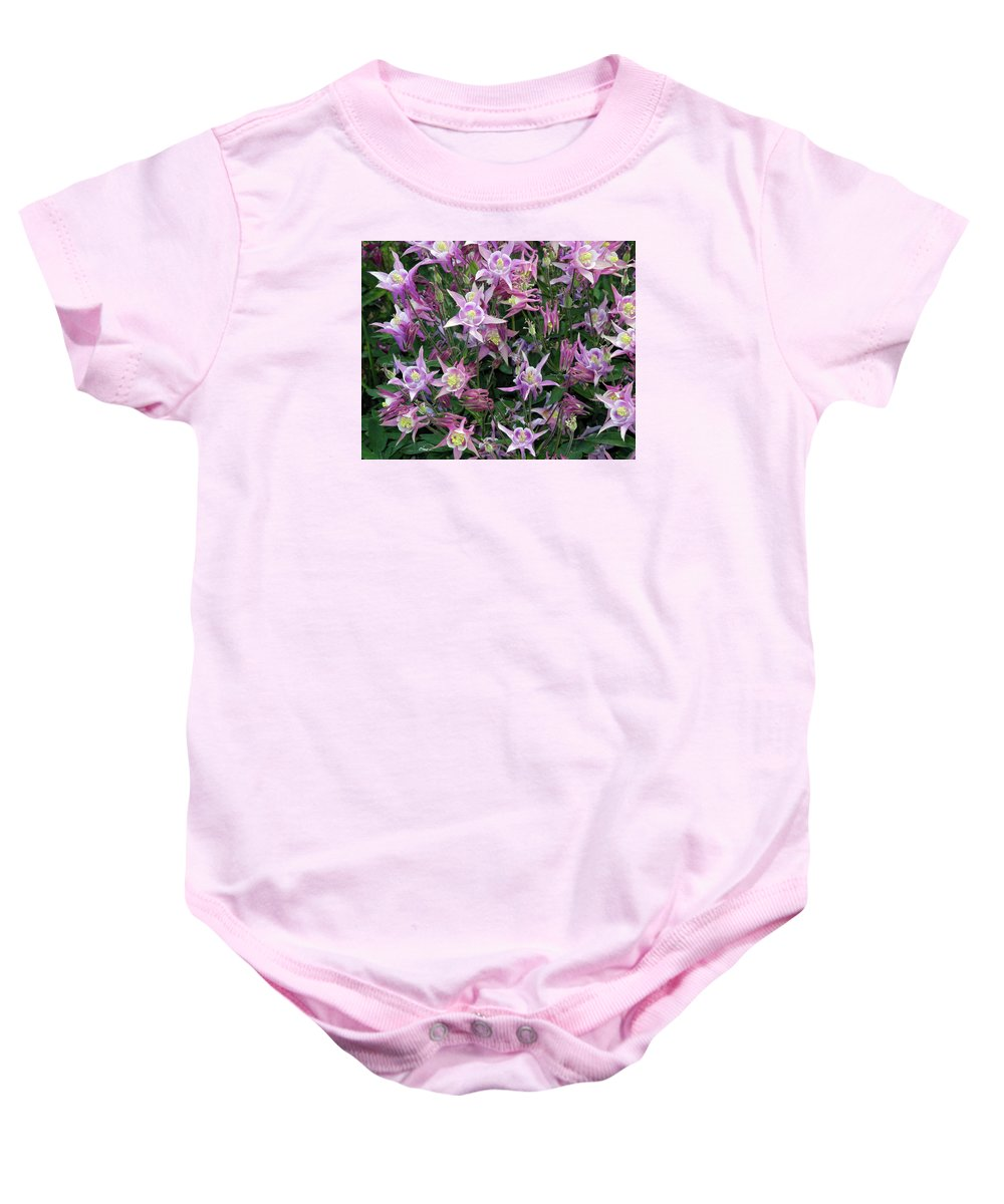 Spring Baby Onesie featuring the photograph Columbine Splendor by Lynda Lehmann