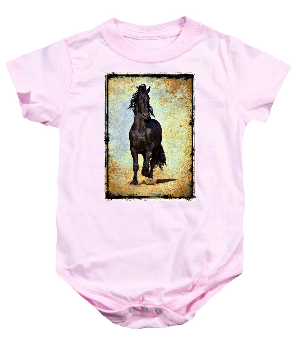 Baby Onesie featuring the photograph Conqueror by Jean Hildebrant