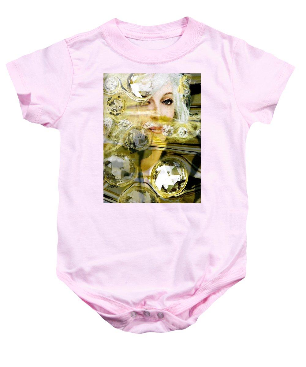 Women Baby Onesie featuring the digital art Darling Diamonds by Seth Weaver