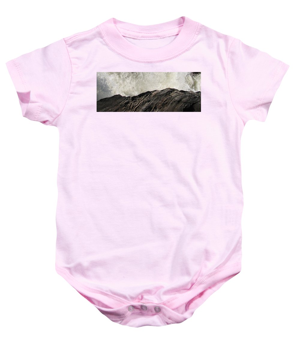 Abstract Baby Onesie featuring the photograph Day And Night by Kelly Mezzapelle