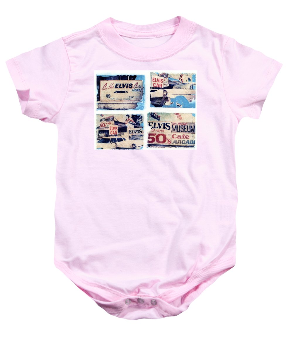 Elvis Baby Onesie featuring the photograph Disgraceland by Jane Linders