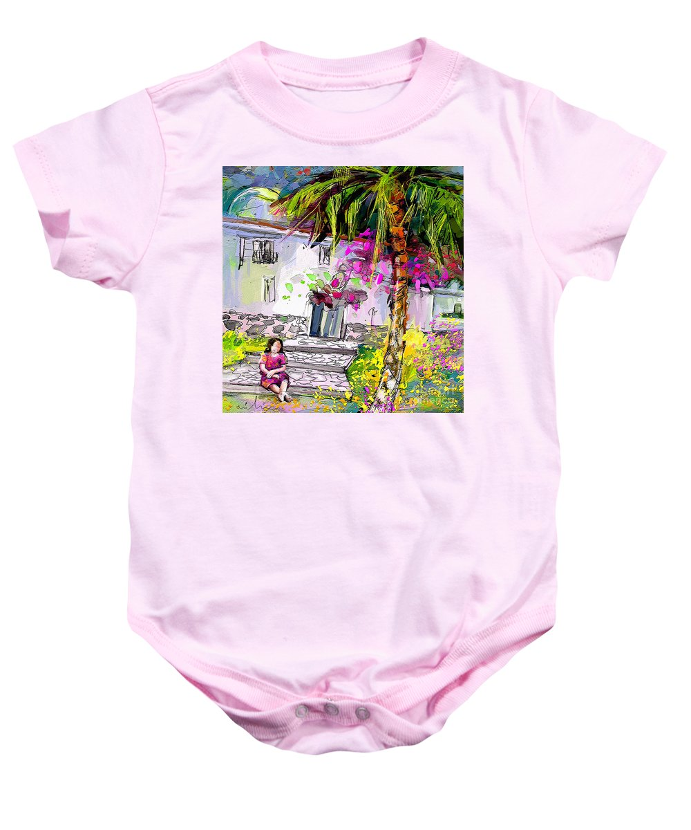 Turre Painting Baby Onesie featuring the painting Doll House In Turre by Miki De Goodaboom