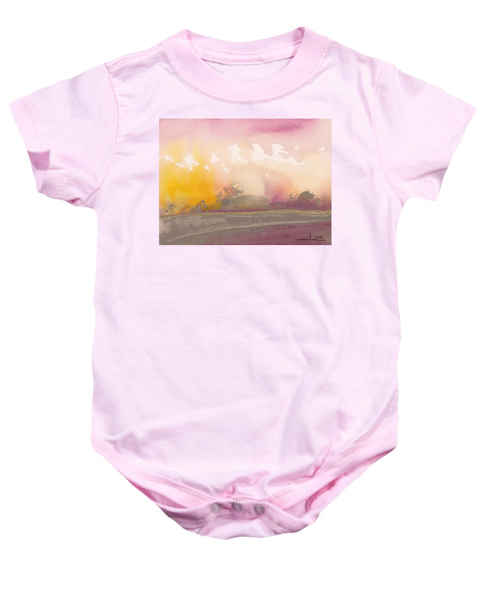 Nature Baby Onesie featuring the painting Early Morning 03 by Miki De Goodaboom