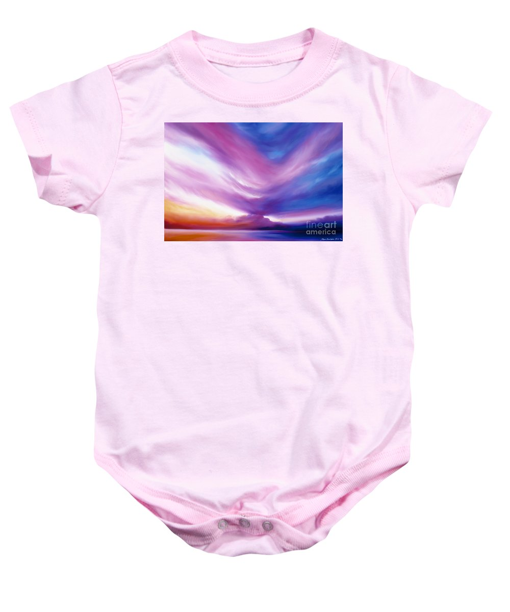 Clouds Baby Onesie featuring the painting Ecstacy by James Christopher Hill