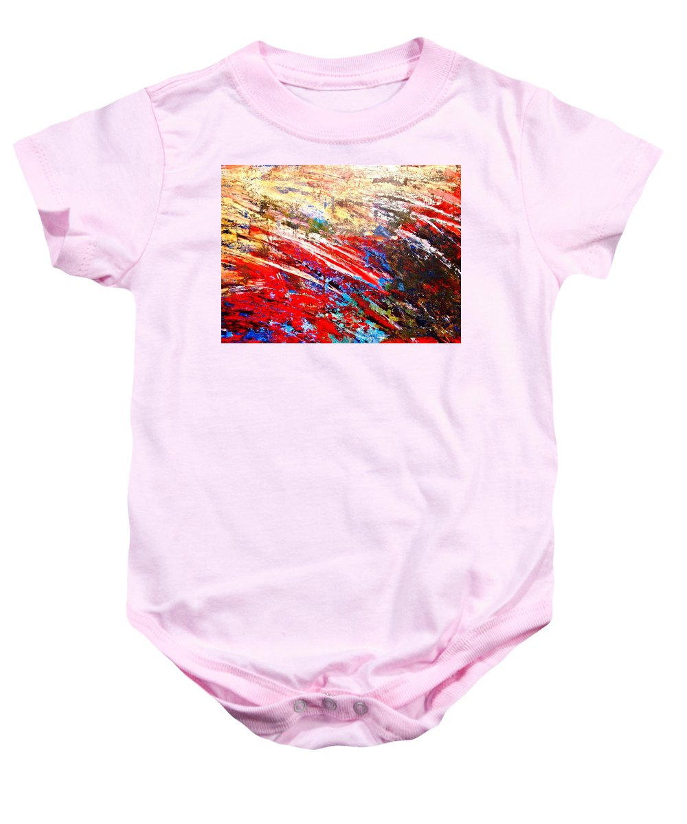 Expressionism Baby Onesie featuring the painting Emotional Explosion by Natalie Holland