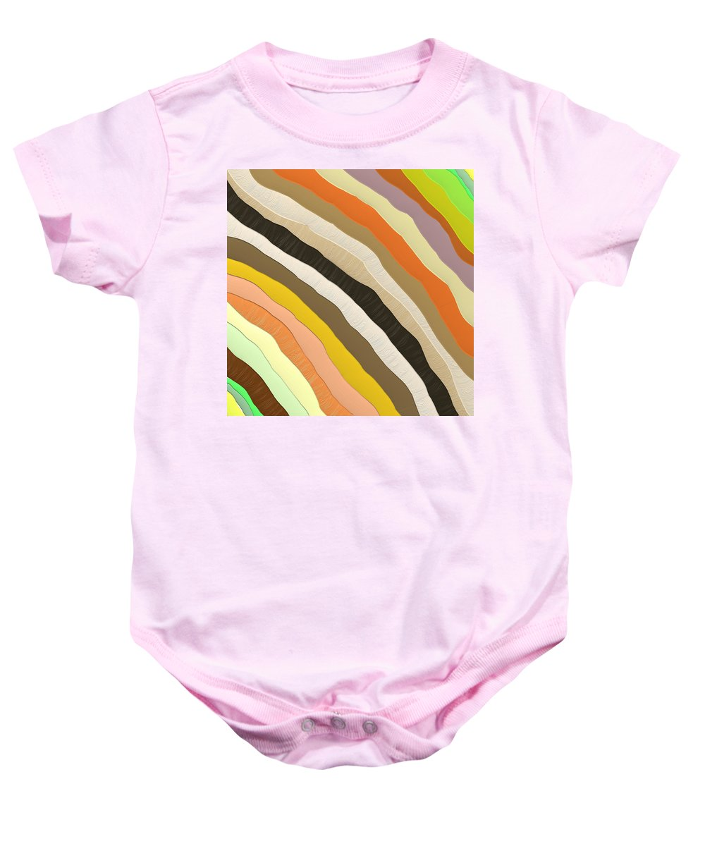 Abstract Baby Onesie featuring the digital art Emotive Pattern by SC Heffner
