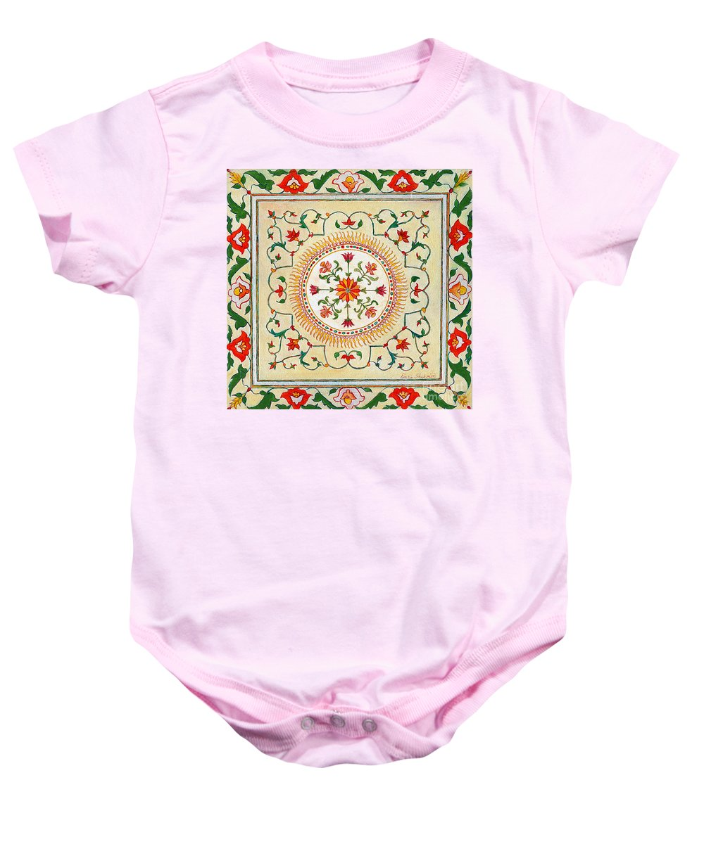 Plants Baby Onesie featuring the painting Enduring Love Floral Painting by Portraits By NC
