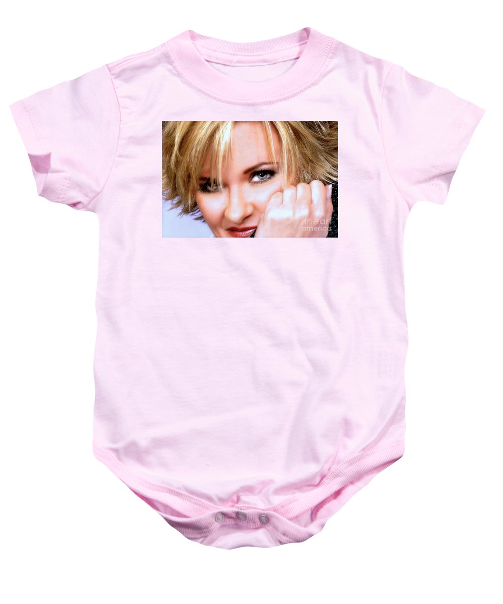 Clay Baby Onesie featuring the photograph Eyes by Clayton Bruster