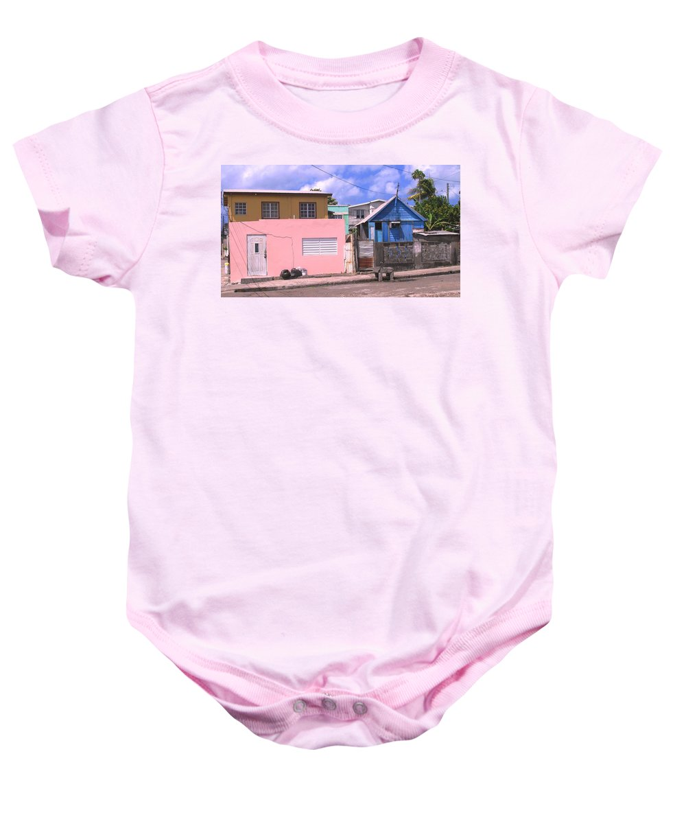 Basseterre Baby Onesie featuring the photograph Far From Dull by Ian MacDonald