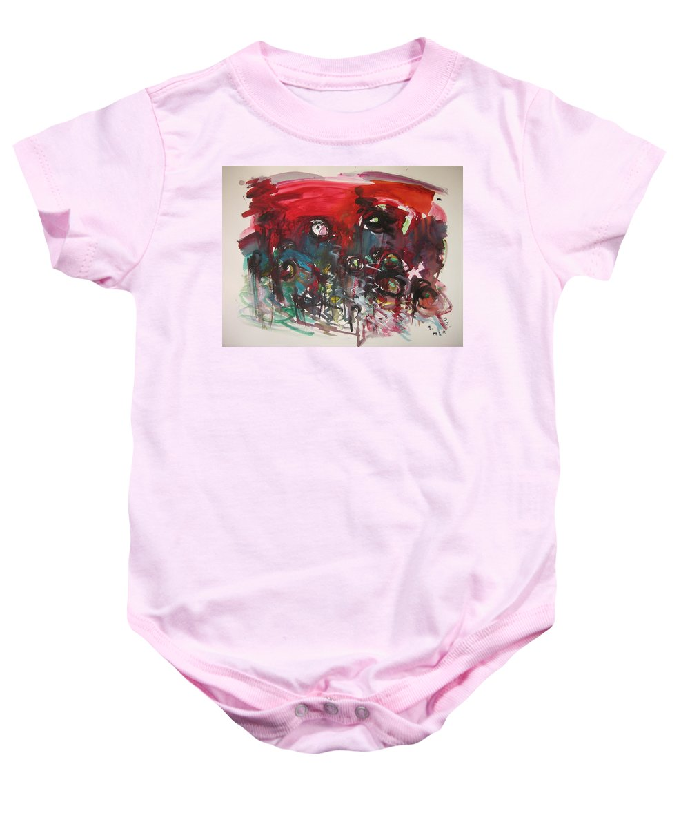 Fiddleheads Paintings Baby Onesie featuring the painting Fiddlesheads108 by Seon-Jeong Kim