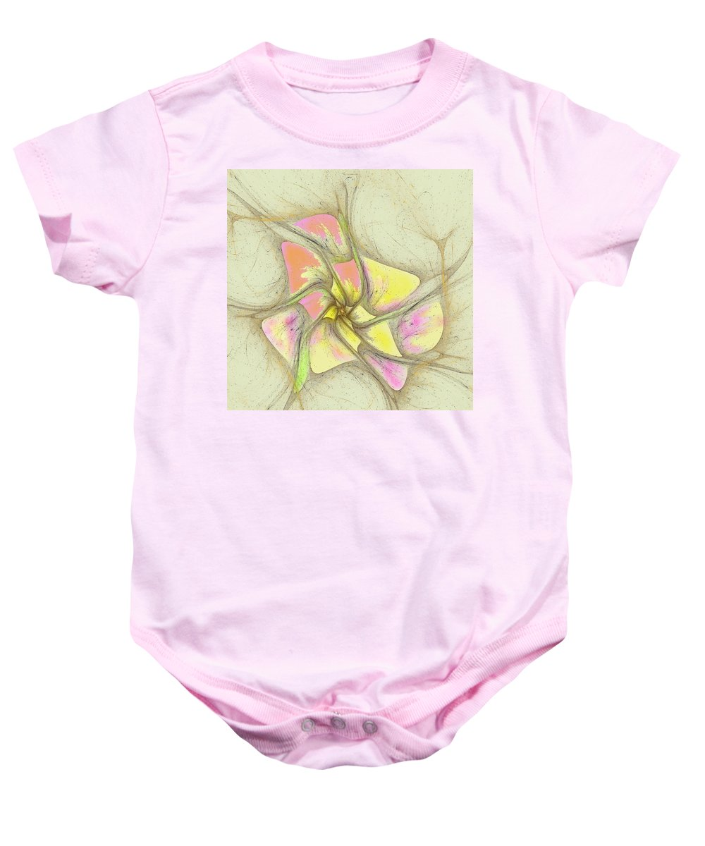 Baby Onesie featuring the digital art Floral 2-19-10-a by David Lane