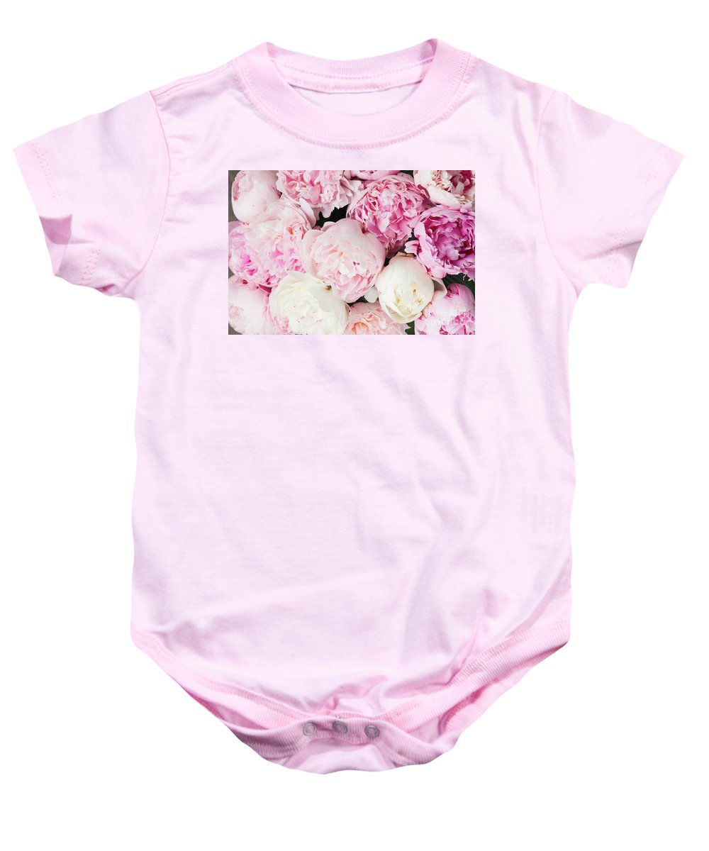 Peony Baby Onesie featuring the photograph Peony Song by Anastasy Yarmolovich