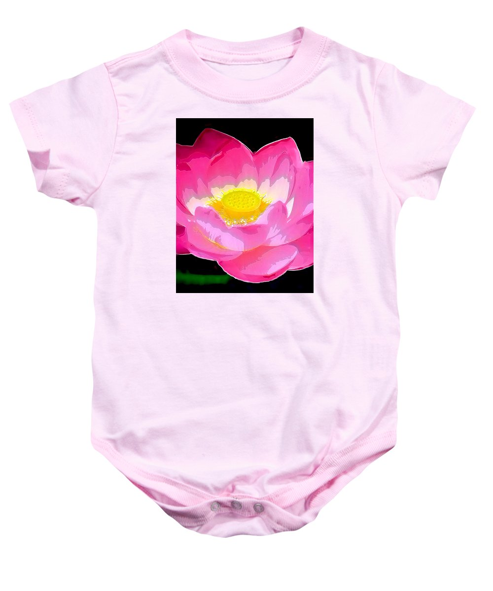 Flowers Baby Onesie featuring the drawing Floral by Philip Gresham