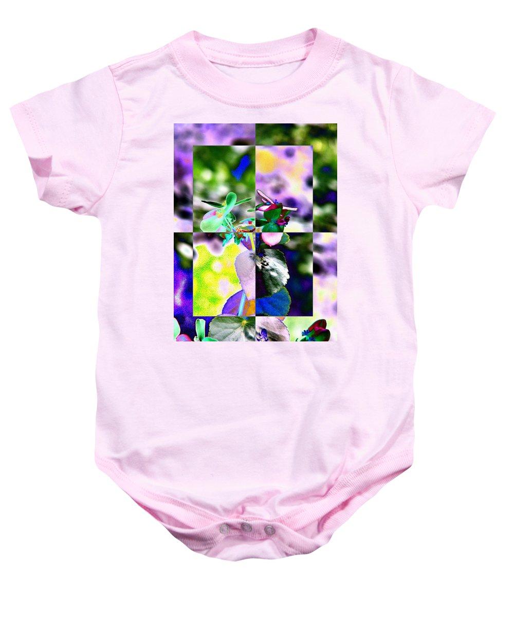 Flower Baby Onesie featuring the digital art Flower 2 by Tim Allen