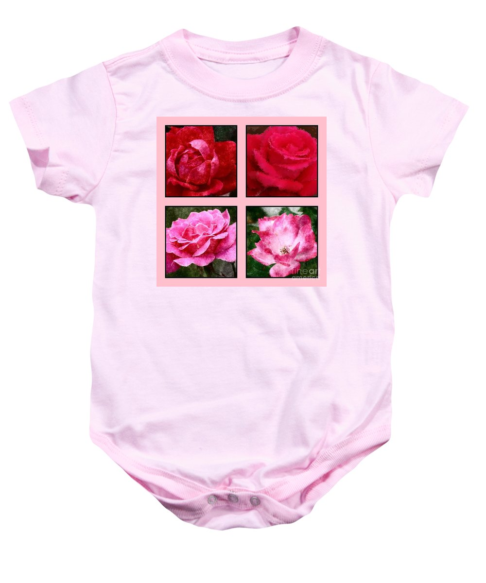 Roses Baby Onesie featuring the photograph Four Roses by Donna Bentley