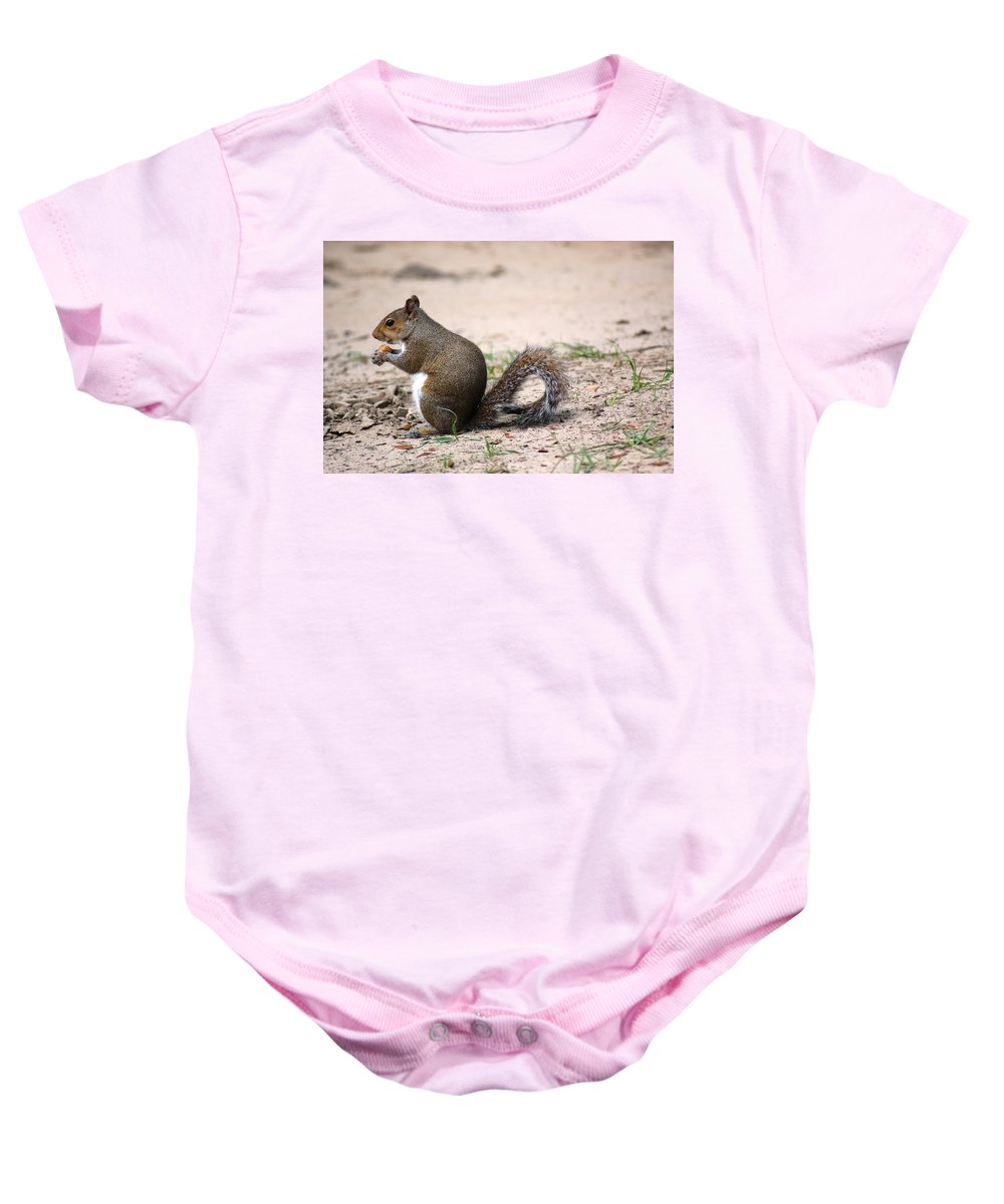 Wild Life Baby Onesie featuring the photograph French Fries by Donna Bentley