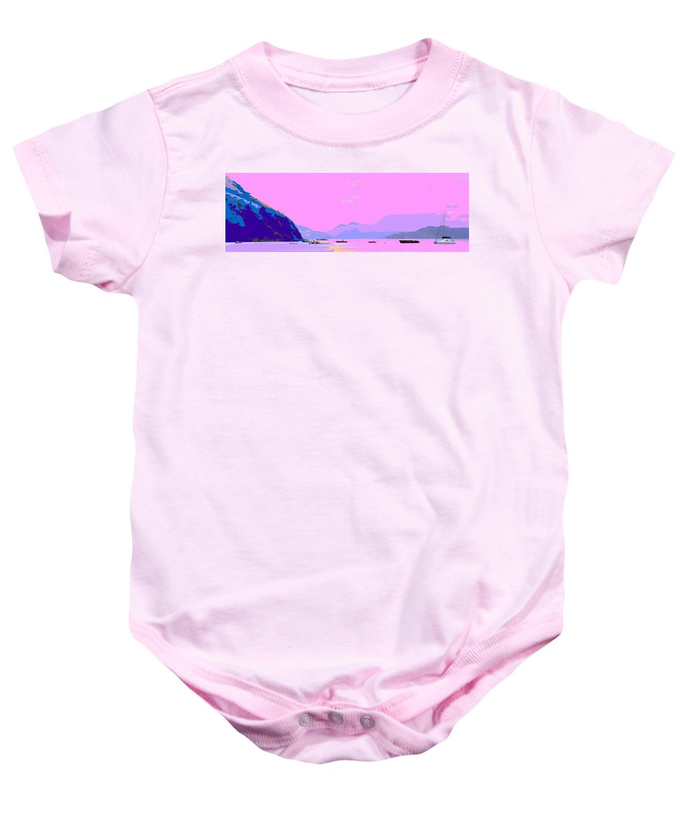 Frigate Baby Onesie featuring the photograph Frigate Bay Morning by Ian MacDonald