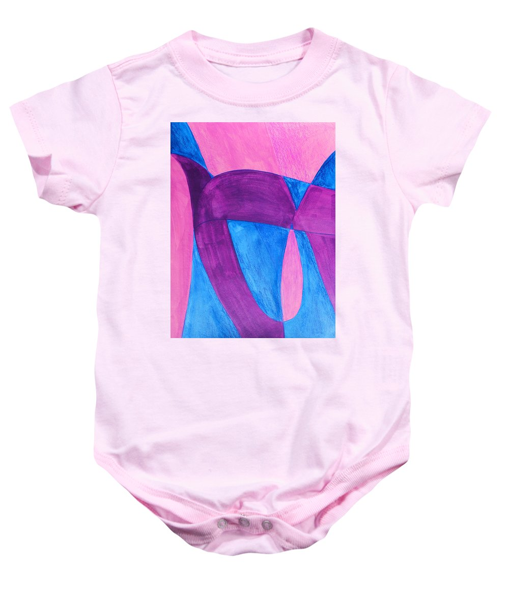 Abstract Baby Onesie featuring the painting Fun In Abstract Word Art by Lee Serenethos