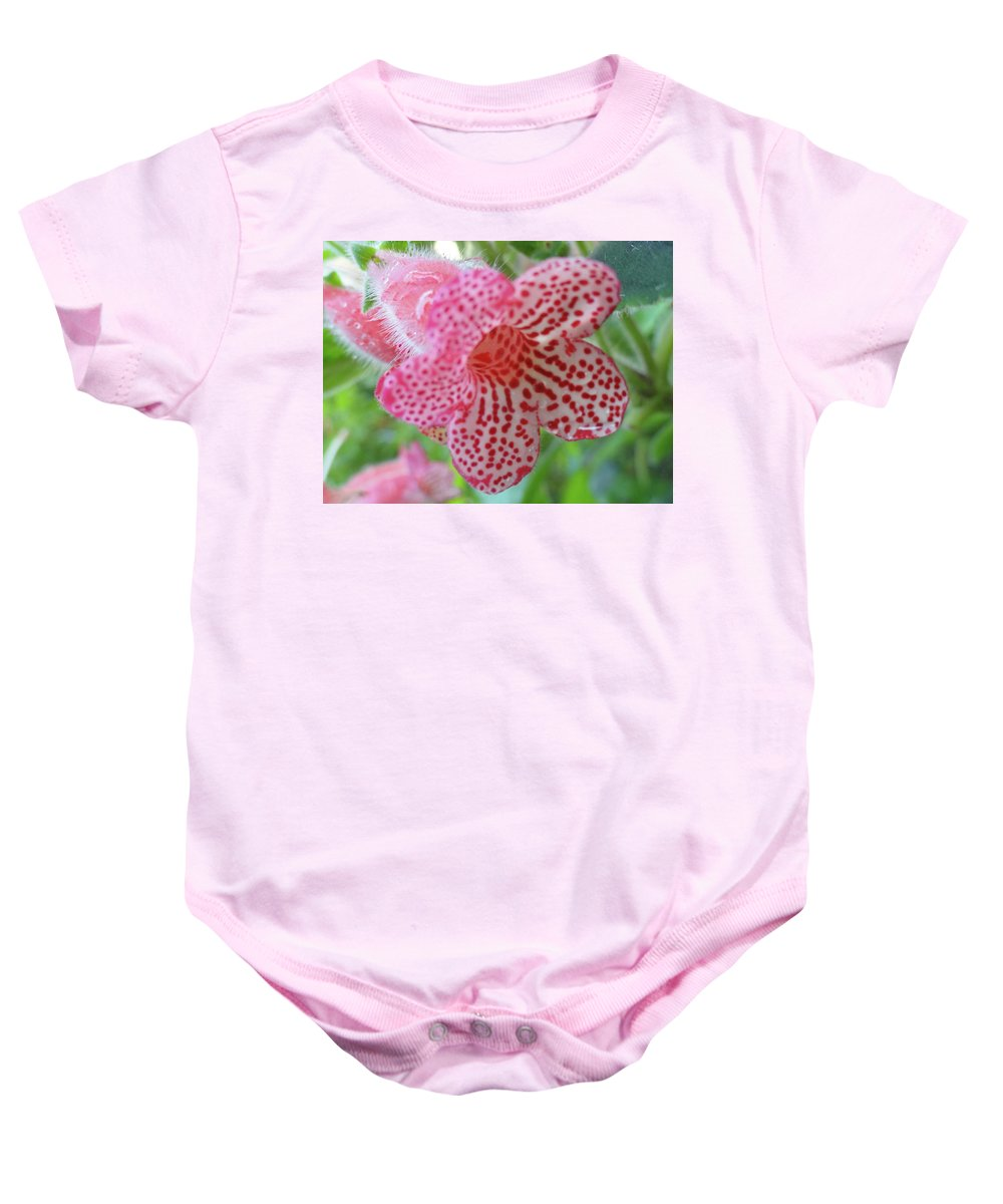 Flowers Baby Onesie featuring the photograph Furry Flora by Trish Hale