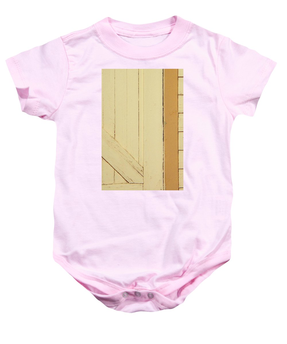 Abstract Baby Onesie featuring the photograph Garage Door by Lenore Senior