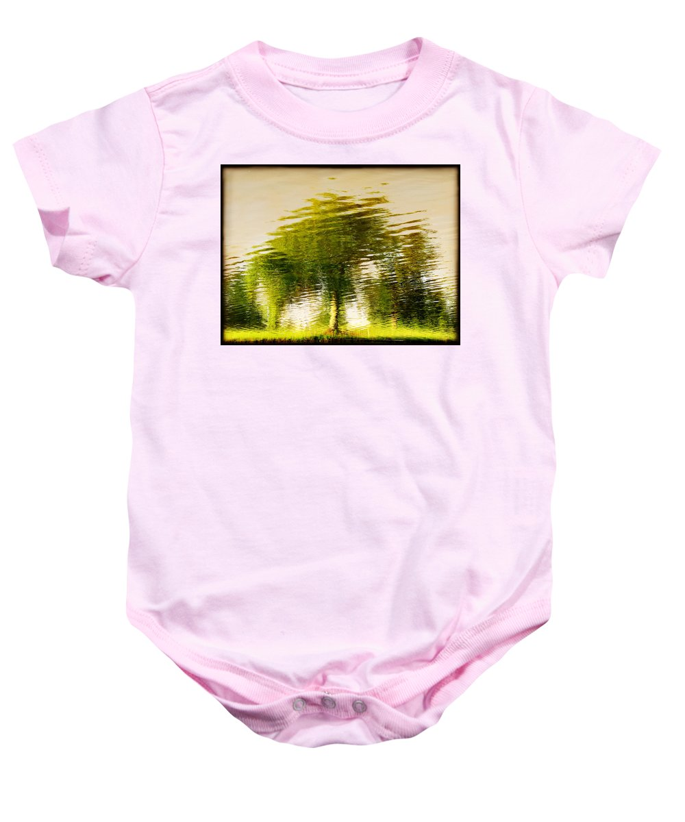 Abstract Baby Onesie featuring the photograph Gentle Sun by Dana DiPasquale