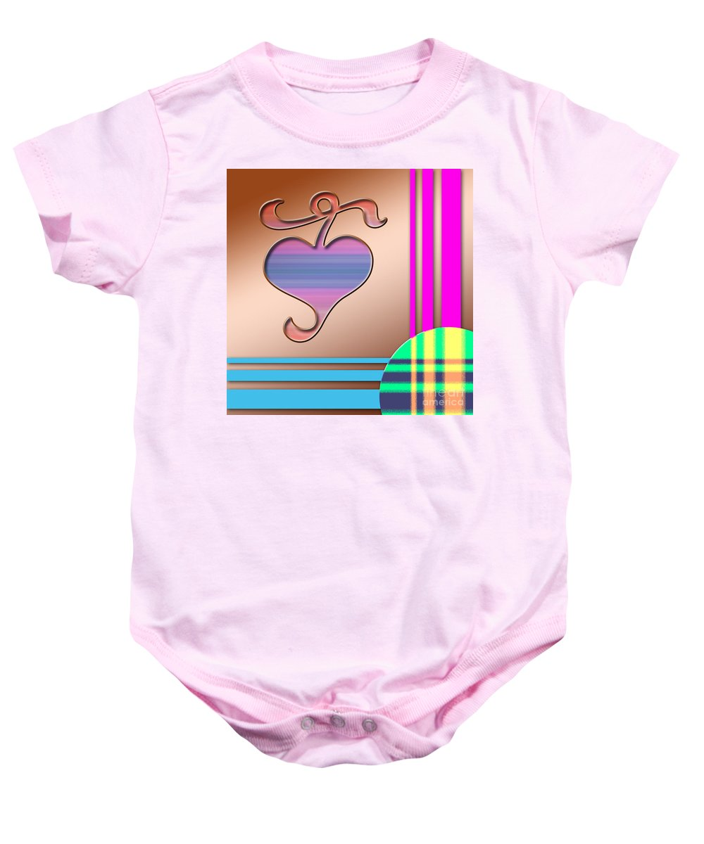 Clay Baby Onesie featuring the digital art Gift Of Love by Clayton Bruster