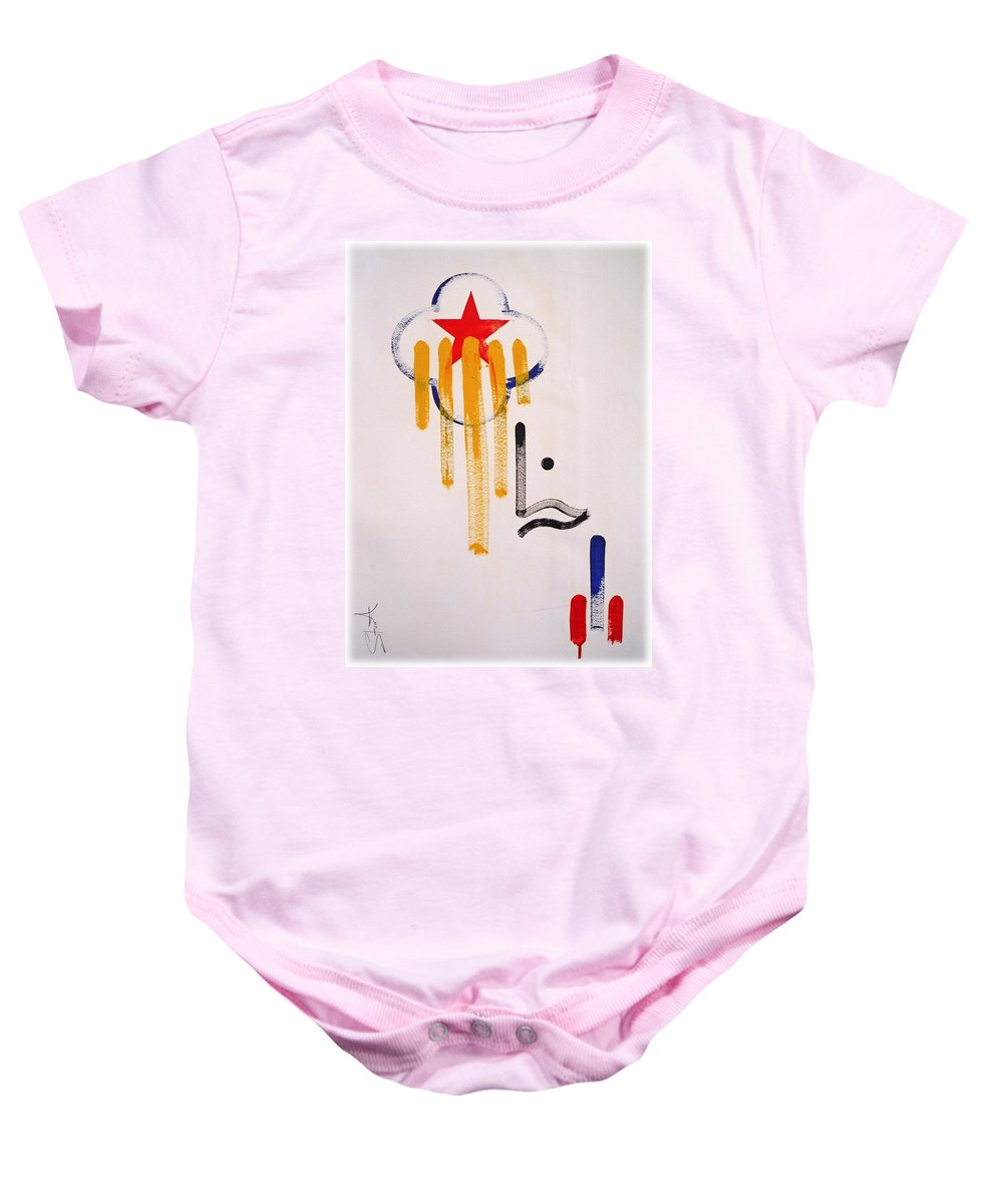 Drawing Baby Onesie featuring the painting Great American Image by Charles Stuart