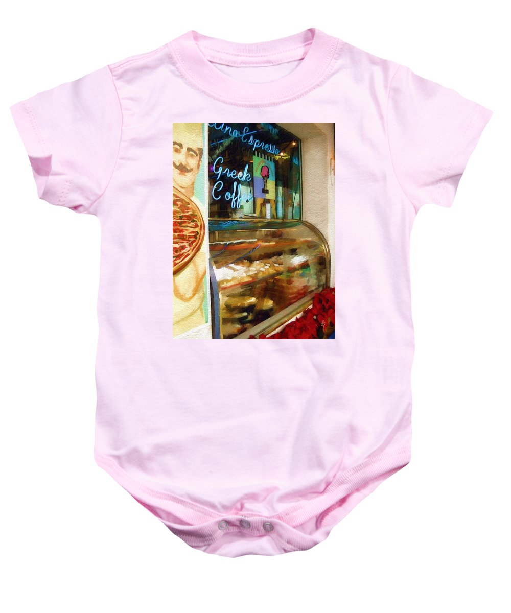 Greek Baby Onesie featuring the photograph Greek Coffee by Sandy MacGowan