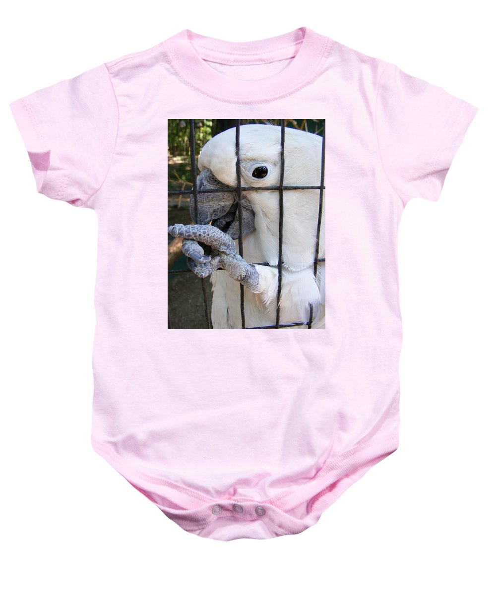 Bird Baby Onesie featuring the photograph Hand Me The Key Please by Ed Smith