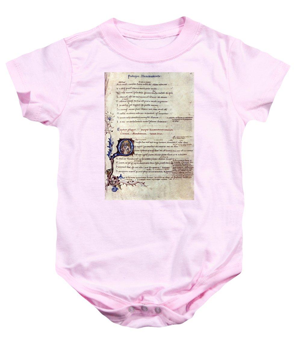 15th Century Baby Onesie featuring the photograph Heautontimoroumenos by Granger