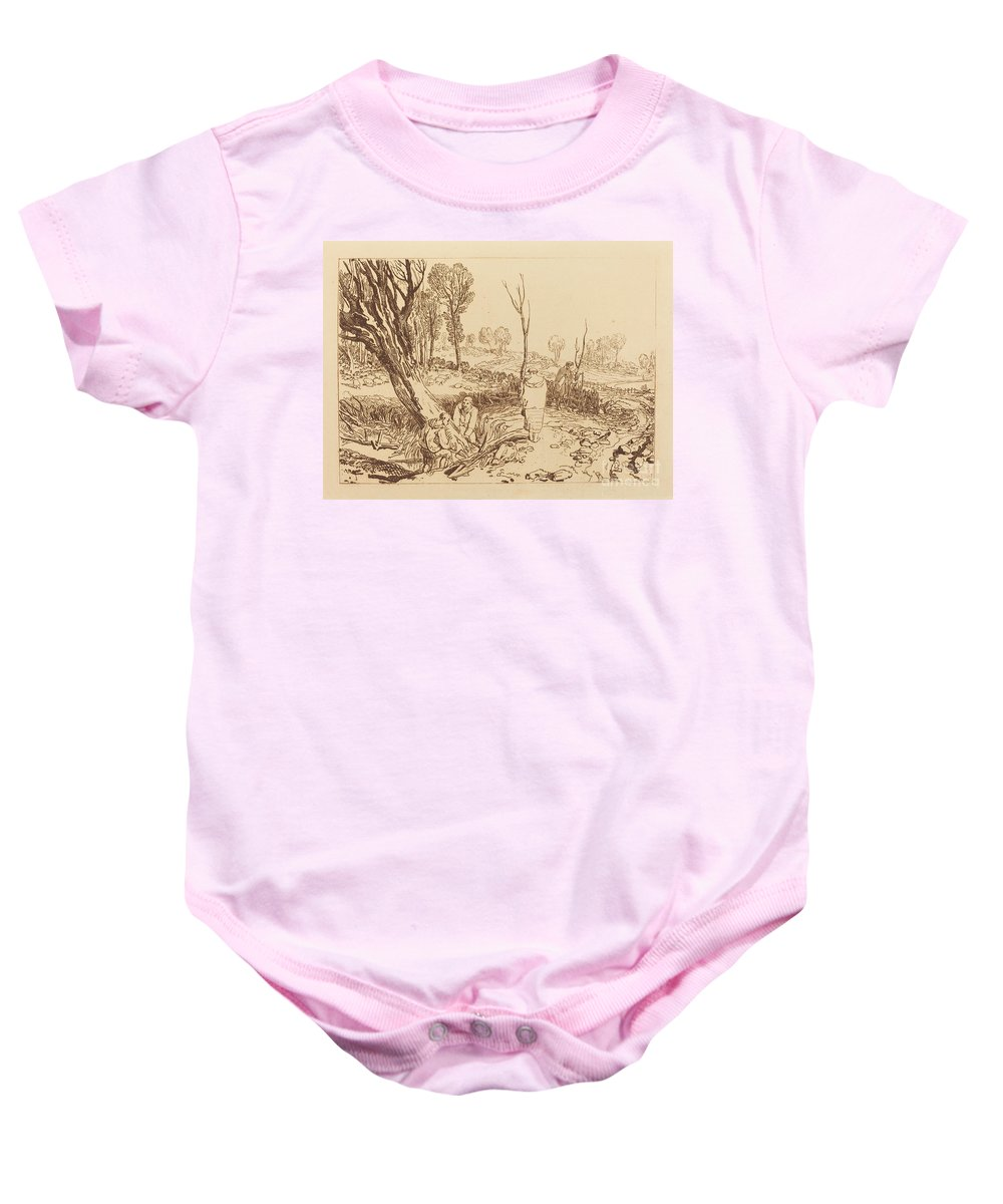 Baby Onesie featuring the drawing Hedging And Ditching by Joseph Mallord William Turner