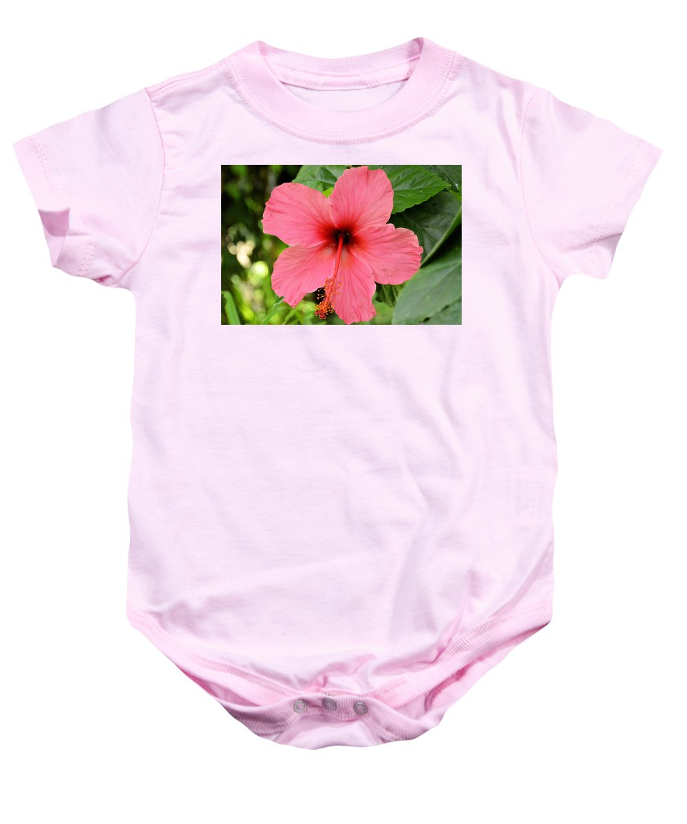 upside Down Baby Onesie featuring the photograph Hibiscus Front by Wendy Fox